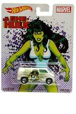 2017 Hot Wheels Pop Culture Marvel The Savage She Hulk Custom '77 Dodge Van
