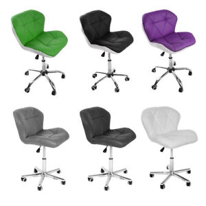 Office Computer Chair Faux Leather Padded Seat Height Adjustable Gas Lift Chair