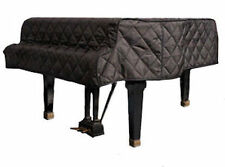 """Grand Piano Cover Black Quilted 6'1"""" - 6'4"""" Made in USA"""