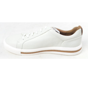Clarks Unstructured Leather Casual Sneakers Un Maui Lace White