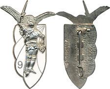 9° Chasseur Parachutiste, métal argenté, fond blanc, Boussemart 1366 (E140)