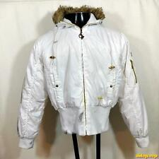 BABY PHAT Polyester Ski DOWN Jacket Womens Size XL white hooded insulated