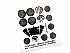 STICKER SET for STAR WARS MODELS, Lego 7778 MILLENNIUM FALCON + Customs Builds!