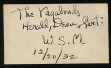 The Vagabonds Band Signed Card 1932 Grand Ole Opry Performers Herald Dean Curt