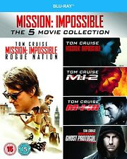 Mission Impossible 1-5 Movie Collection Blu-Ray Box Set NEW Free Ship