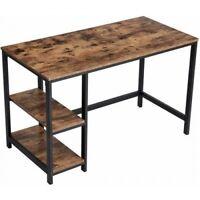 Schreibtisch Computertisch Industrial Vintage Loft Metall Holz Rustikal Regal Bü