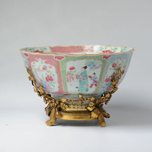 Antique 18C China Chinese Porcelain Bowl Fencai Famille Rose Rooster Liza Zotje
