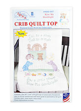 Crib Quilt Top Stamped Cross Stitch & Embroidery Say a little prayer