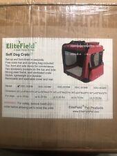 EliteField 3 Door Folding Soft Dog Crate Indoor Outdoor Pet Home 20Lx14Wx14H