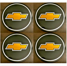 4pcs CHEVY Emblem Badge RALLY WHEEL CENTER HUB CAPS' LOGO STICKERS