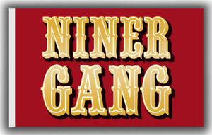 San Francisco 49e Niner Gang Football Memorable Flag 90x150cm 3x5ft best banner