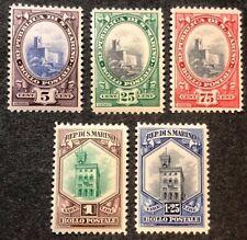 San Marino Stamps #115, 119, 122-124 MNH 1929-35