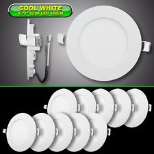 "10 Pack RV Boat Recessed Ceiling Light Super Slim LED Light 4.75"" DC 12V 480LM"