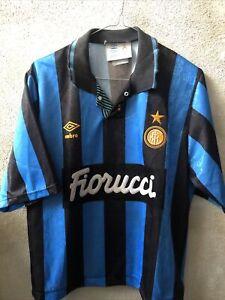 Maglia Shirt Calcio Inter Milan Internazionale Fiorucci Umbro Tg S Adult