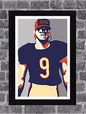 Chicago Bears Jim McMahon Portrait Sports Print Art 11x17