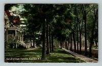 Kingston NY, Residences On Fair Street, Vintage New York c1913 Postcard