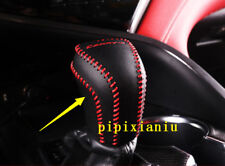 1pcs Red  Black leather Holster Car Gear Shift Cover Trim For Toyota Camry 2018