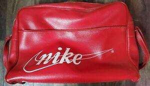 Vintage 1970s Nike Pinwheel Travelite Gym Bag Cursive Logo & Swoosh Collectible