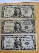 1935 + 2@57 Silver Certificate Notes e936