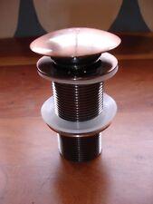 Color de cobre empañada Pop Up Baño Lavabo Enchufe de sifón