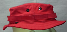 RECCE Hat Boonie   blaze   RED   cotton  fabric - Made in Germany -     c