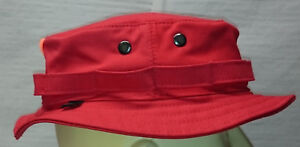 RECCE Hat Boonie   blaze   RED   cotton  fabric - Made in Germany -