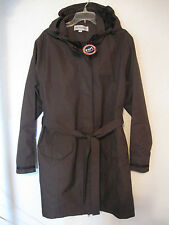 Port Authority Trench Rain Coat Sz. XXL Brown Hook 2 Way Zipper Washable #7560