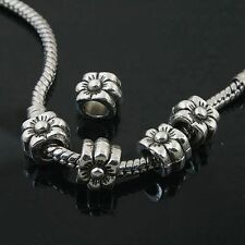 6pcs Tibetan Silver flower spacer Beads Fit European charm  Bracelet  L0122