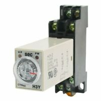 H3Y-2 DC 12V  Delay Timer Time Relay 0 - 5 Seconds with Base