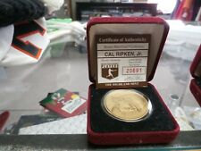 Cal Ripken Jr. Bronze mint coin (1 of 25,000) #20691 in case #22165
