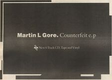 17/6/89Pgn11 Advert: Martin L Gore 'counterfeit' New 6 Track Cd/vinyl 7x11