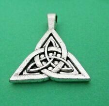 pendentif noeud gordien, métal argenté,celtique,  infini sagesse, immortalité