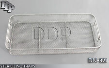"STERILIZING TRAYS Micro Tray Drop Handle 21'' x 10"" x 4"" Mesh Box DN-321"