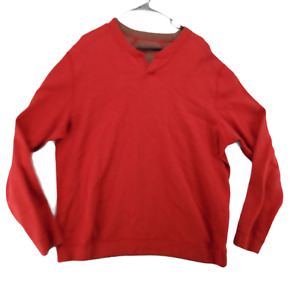 Tommy Bahama Men's Long Sleeve Sweatshirt Red  Size X-Large