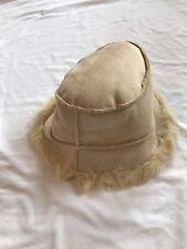 Women's Faux Suede Bucket Hat Faux Fur Lined