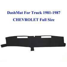 Black Dashboard Sun Shade Pad Cover Dash Mat For CHEVROLET1981-1987 Full Size