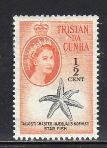 TRISTAN DA CUNHA #28  1960  1/2c  QEII &  STARFISH  MINT VF LH O.G