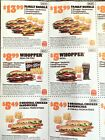 Burger King BK 20 Coupons Fast Food Expires 12/12/2021 Whopper Chicken Fries Etc