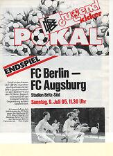 Orig.PRG   DFB Pokal Junioren  94/95  FINALE  FC BERLIN - FC AUGSBURG !! SELTEN