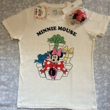 New UNIQLO T-Shirts Disney Tsum Tsum Minnie White Tee Women's L JAPAN F/S