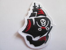 Pirate Ship Embroidered  Patch Iron or Sew On -45 x  65mm - High Quality = P105