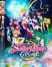 DVD ANIME ~ENGLISH VERSION~ SAILOR MOON CRYSTAL Sea 1  Vol.1-26 End + FREE DVD