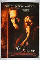 A PERFECT MURDER 27x40 1 SHEET ORIGINAL Rolled Movie Poster 1998 MICHAEL DOUGLAS