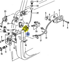 AUDI 100/200 5000 V8 1984-94 RIGHT SIDE  LOCKING LEVER DOOR LOCK 443837080F