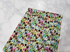 Mickey Mouse Ears And Disney Character 100% Cotton Fabric / Fat Quarter