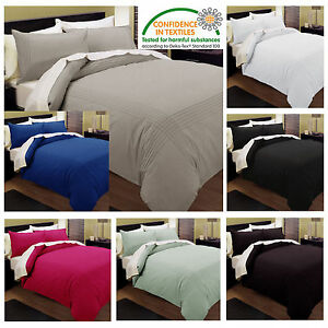 7 Colors PINTUCK Quilt / Doona / Duvet Cover Set  SINGLE - DOUBLE - QUEEN - KING