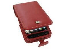 Premium Leather Flip Type Red Phone Protector Cover Case for T-Mobile HD2