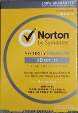 Norton Security Premium 2016 with Backup - 10 Device for PC/MAC/Android/iOS New