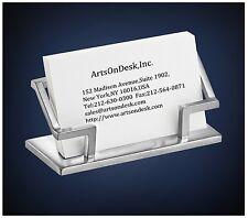 ArtsOnDesk Modern Art Business Card Holder st201 Stainless Steel Satin Finish
