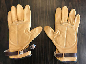 Leather French Bicycle Gloves New preserved 1970/'s retro Super Soft Deluxe.